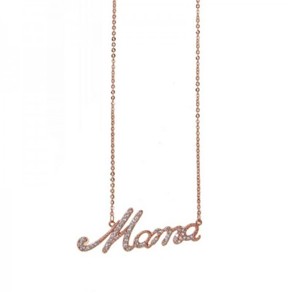 Mc Rose stainless steel mama necklace
