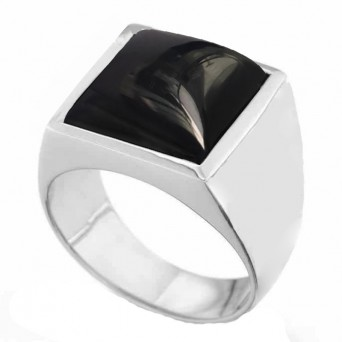 RNG Big Men's Square Ring with black Onyx