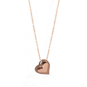 Jt Rose sterling silver heart charm necklace