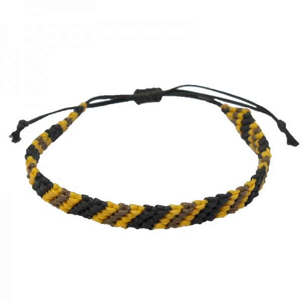 Siballba Macrame Yellow Black Brown Men's Bracelet