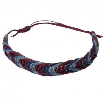Siballba Macrame Purple Blue Βurgundy Men's Bracelet
