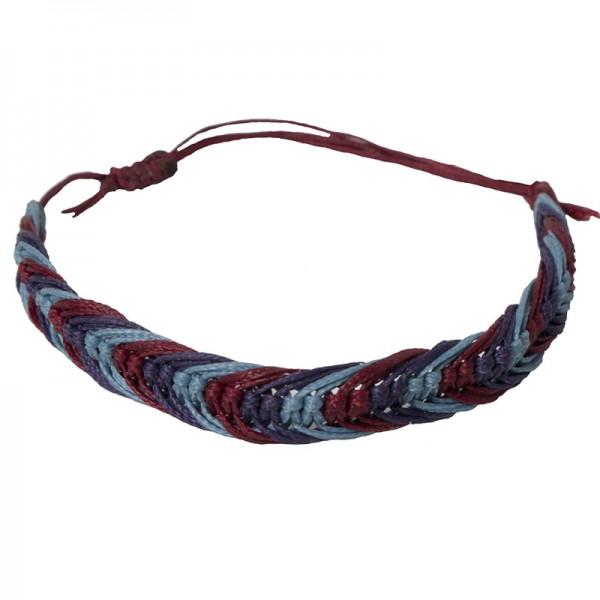 Siballba Macrame Purple Blue Βurgundy Men's Bracelet