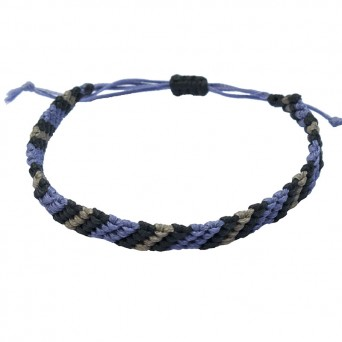 Siballba Macrame Purple Black Grey Men's Bracelet