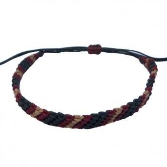 Siballba Macrame Black Burgundy Beige Men's Bracelet