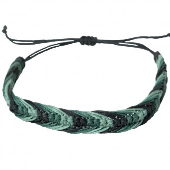 Siballba Macrame 3 shades of green Men's Bracelet