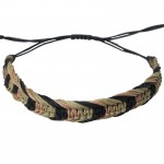 Siballba Macrame Black beige Pink Men's Bracelet