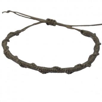 Siballba Macrame Grey Men's Bracelet