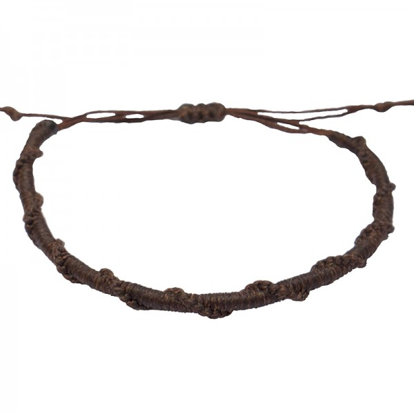 Siballba Macrame Brown Men's Bracelet
