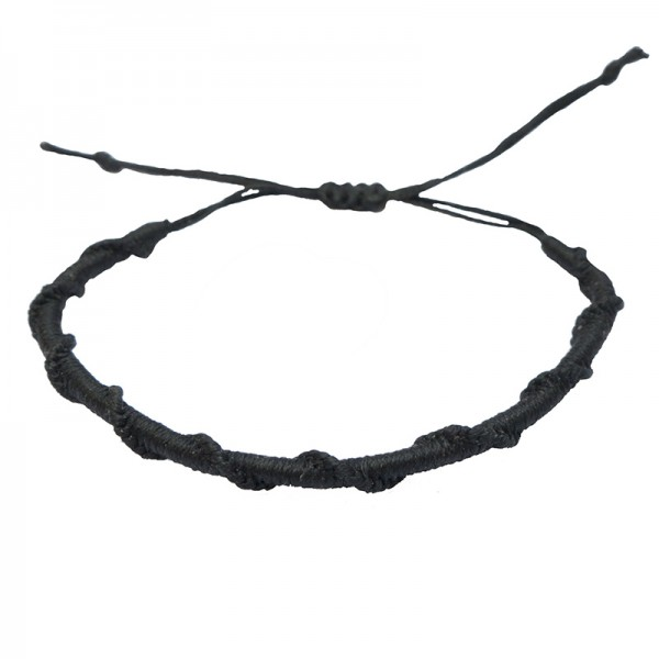 Siballba Macrame Black Men's Bracelet