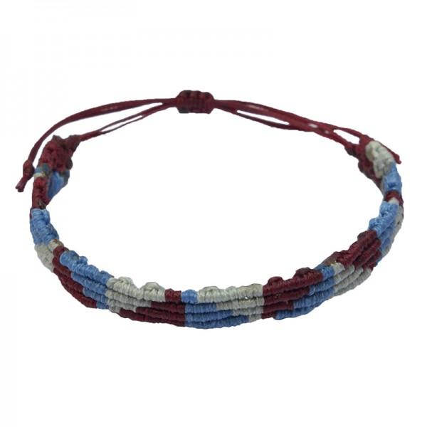 Siballba Macrame 3 Color Triangle Men's Bracelet