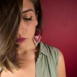 Siballba Boho σκουλαρίκια κρεμαστά κρίκοι μακραμέ φούξια