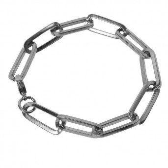 AD Women's Steel Chain Paperclip Bracelet Thick