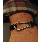 Aetoma  Men's Sterling Silver Climbing hook Bracelet