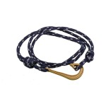 Aetoma Men's Silver Fishing Hook Bracelet