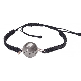 Aetoma Men's Sterling Silver Soccer Ball Bracelet
