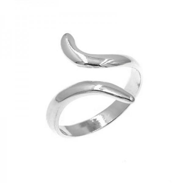 AD Ασημένιο δαχτυλίδι ποδιού/ακροδάχτυλου καμπυλωτό ανοιχτό
