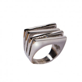 AD Impressive Quadruple Rectangle Steel Ring