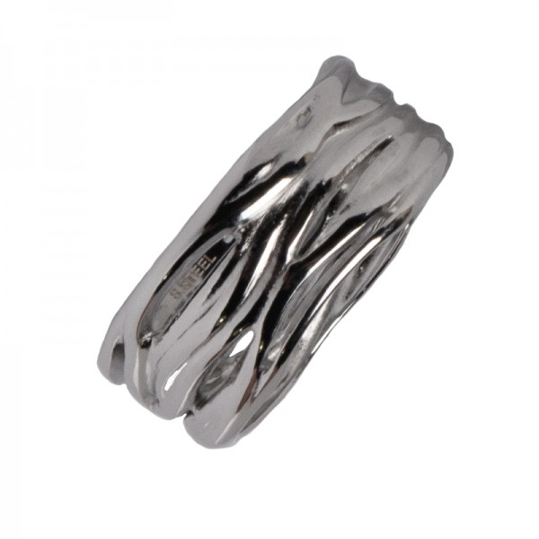 AD Stainless Steel Ring Bas-relief