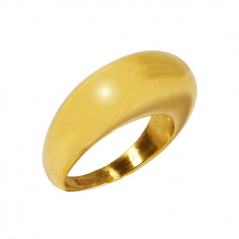 Jt Gold Stainless Steel Dome Ring
