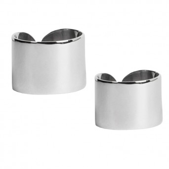 AD Set of 2 sterling silver tube rings