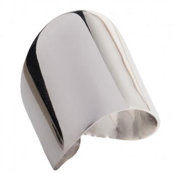 AD Plain sterling silver asymmetric ring