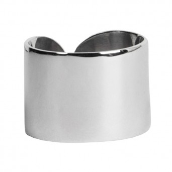 AD Plain sterling silver even ring