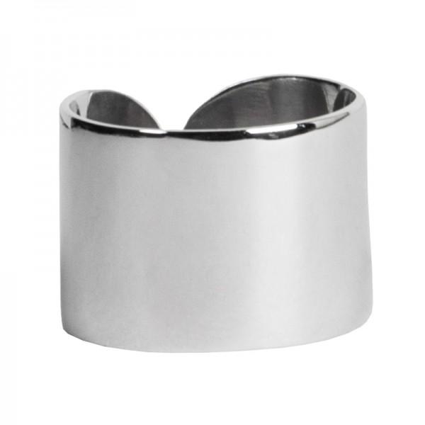 AD Σκέτο ασημένιο δαχτυλίδι σωλήνας ίσιος