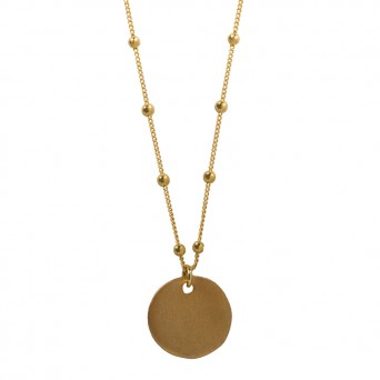 Jt Gold plated silver coin necklace