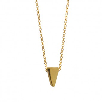 Jt Gold plated silver triangle necklace