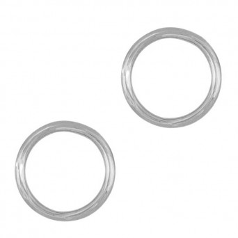 AD Sterling silver stud minimal circle earrings