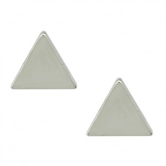 Jt Minimal small stainless steel triangle earrings