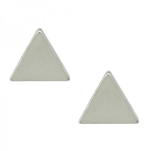 Jt Ατσάλινα σκουλαρίκια καρφωτά μικρά τρίγωνα