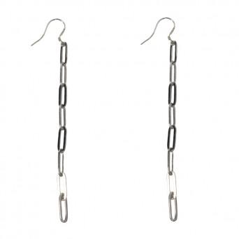 AD Hang Earrings Paperclip Chain Steel