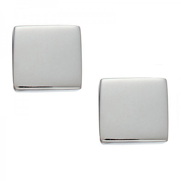 Jt Minimal small stainless steel square earrings