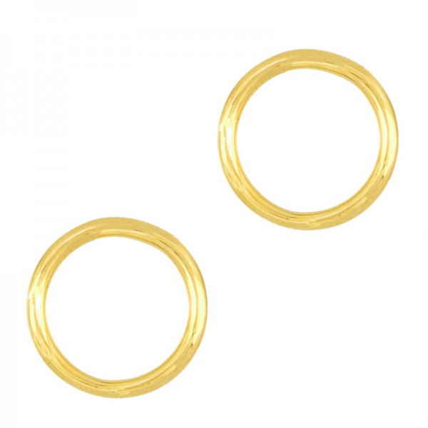AD Gold plated silver stud minimal circle earrings