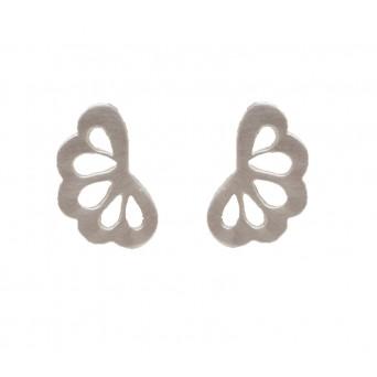 Antria Silver Flower Stud Earrings