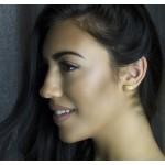 Antria Gold Plated Silver Angel Wings Stud Earrings