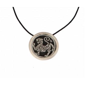 Antria Handmade Shotokan Tiger silver necklace
