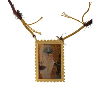 Antria Χειροποίητο κολιέ Freya's Tears με ασήμι, μπρούτζο, χρυσό