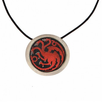 "Antria Handmade ""Game of Thrones"" Targaryen silver necklace"