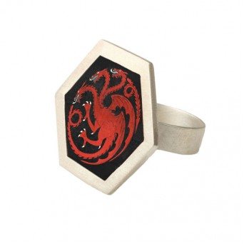Antria Silver dragon Targaryen ring  of Game of Thrones