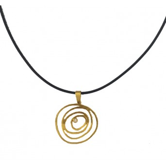 Ano Gold plated silver spiral necklace