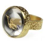 Cosmochaos Μονόπετρο ασημένιο δαχτυλίδι ερωδιός με χαλαζία