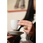 Efstathia Επίχρυσο ασημένιο δαχτυλίδι σπείρα με τιρκουάζ χαλαζία