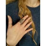 Efstathia Εντυπωσιακό ασημένιο δαχτυλίδι φουσκάλες