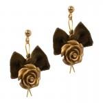 Fl Χρυσά καρφωτά σκουλαρίκια χρυσά τριαντάφυλλα