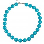 Jt Sterling Silver Turquoise Shell Pearls Beaded Necklace
