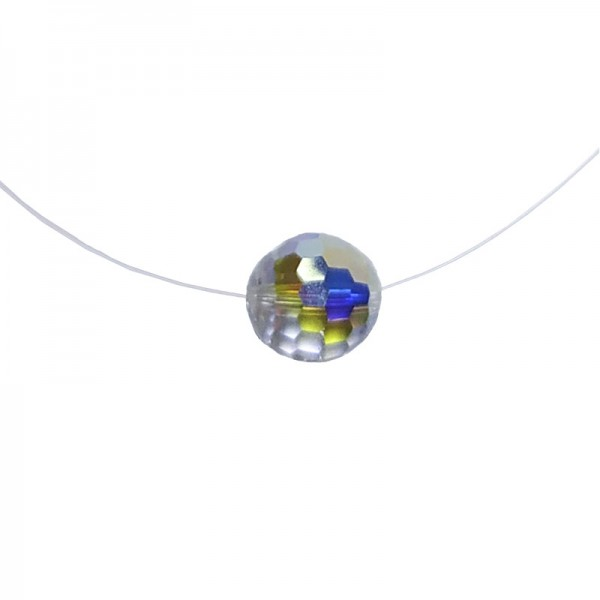 Jt Silver choker white iridescent Swarovski necklace