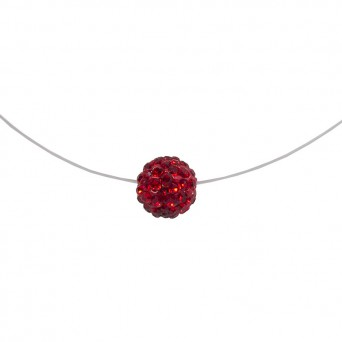 Jt Silver red Swarovski choker necklace