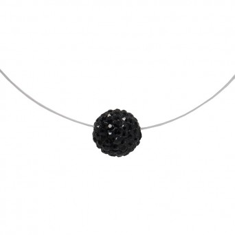 Jt Silver choker black Swarovski necklace